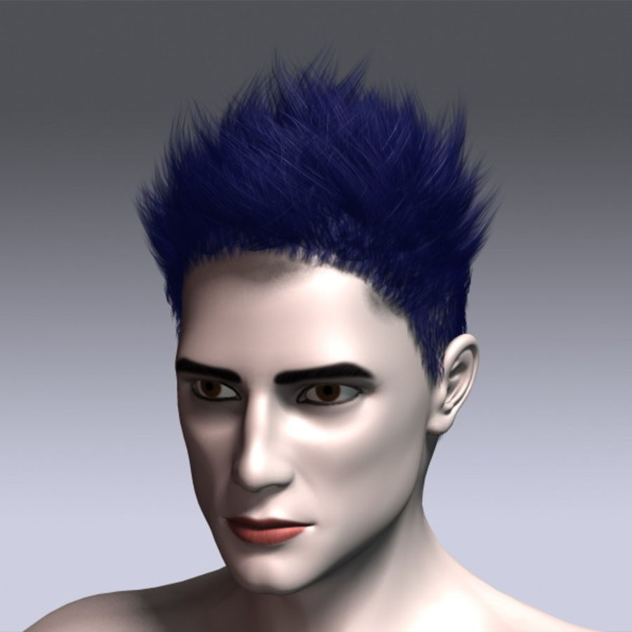 Daniel Hair royalty-free 3d model - Preview no. 16