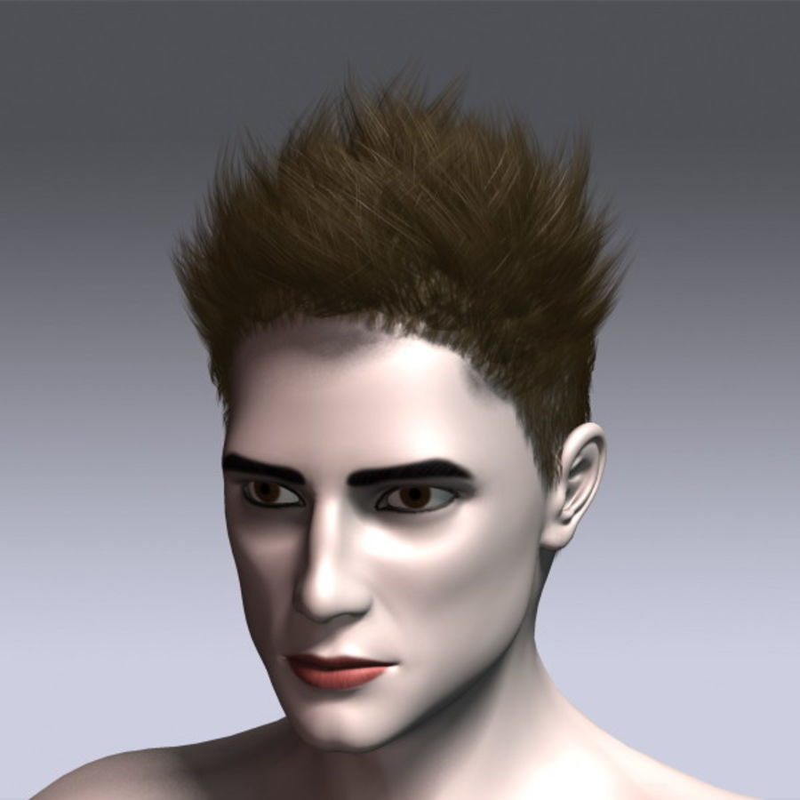 Daniel Hair royalty-free 3d model - Preview no. 14