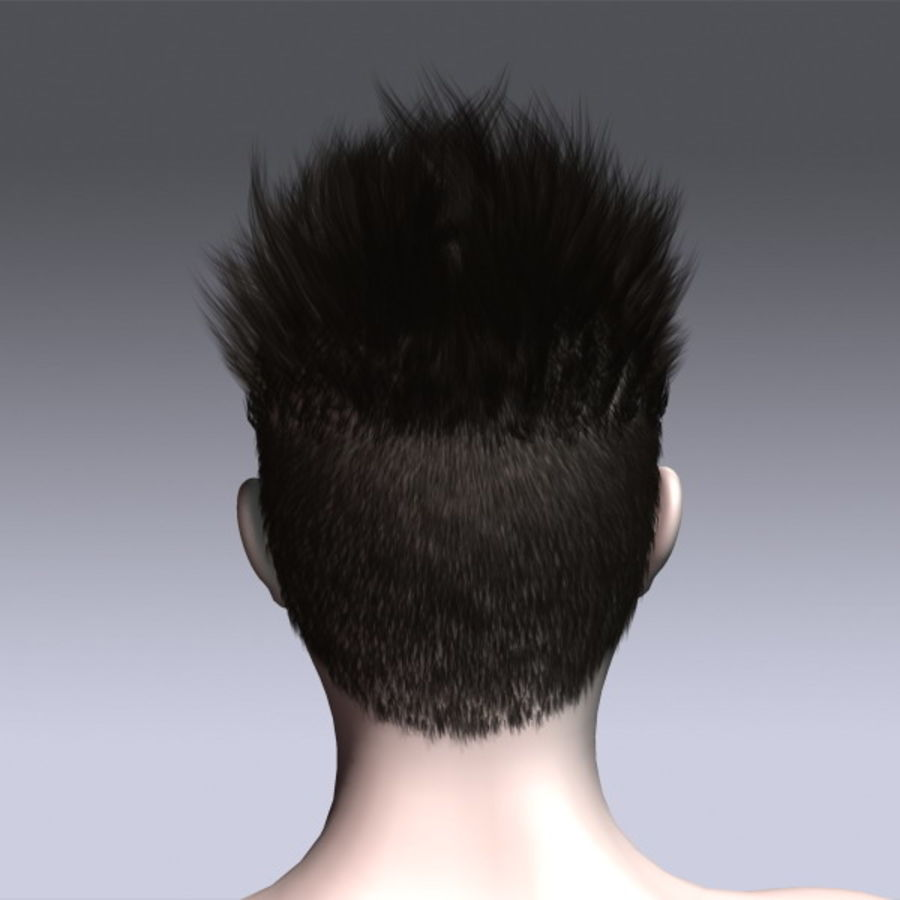 Daniel Hair royalty-free 3d model - Preview no. 8
