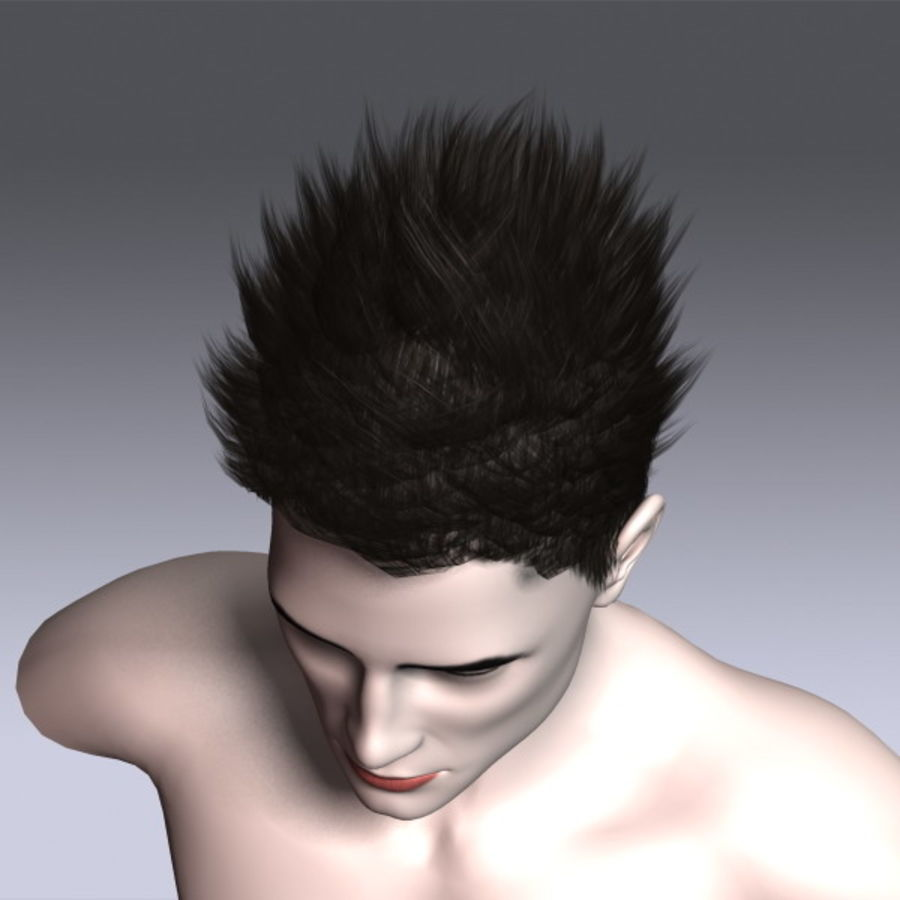 Daniel Hair royalty-free 3d model - Preview no. 11