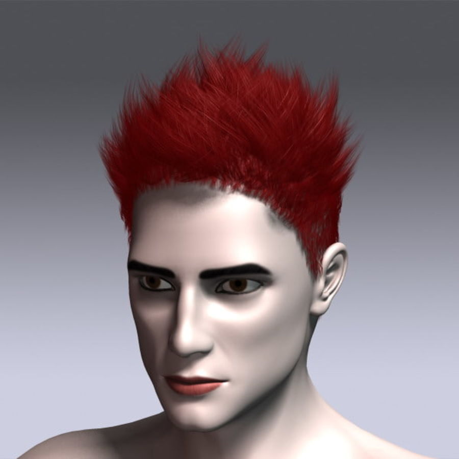 Daniel Hair royalty-free 3d model - Preview no. 15