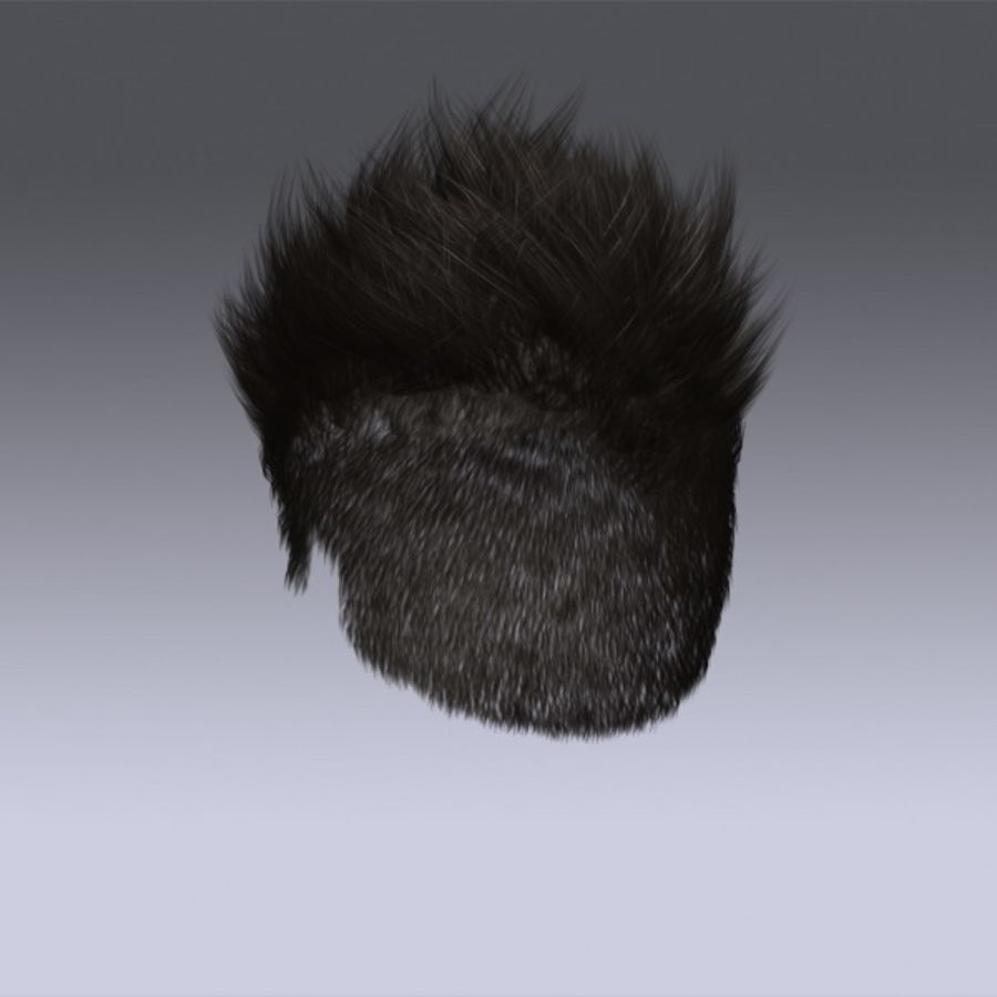 Daniel Hair royalty-free 3d model - Preview no. 2