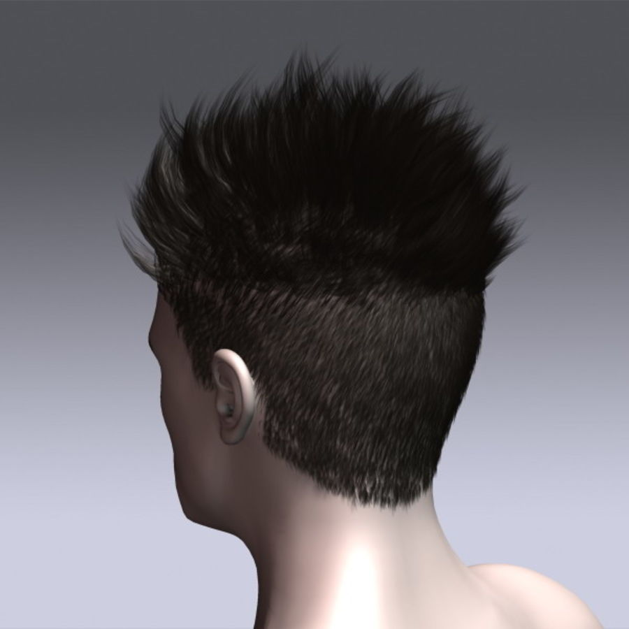 Daniel Hair royalty-free 3d model - Preview no. 9