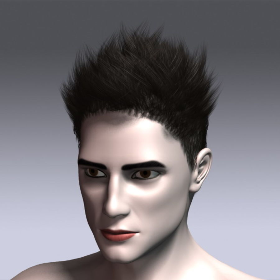Daniel Hair royalty-free 3d model - Preview no. 3