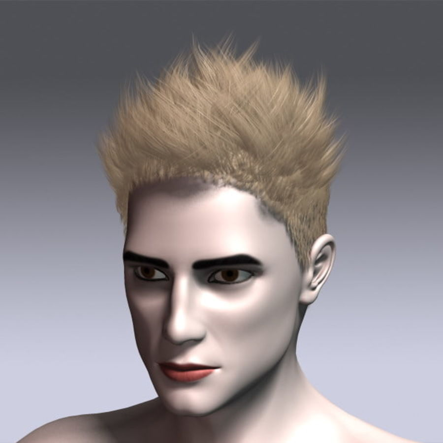 Daniel Hair royalty-free 3d model - Preview no. 13
