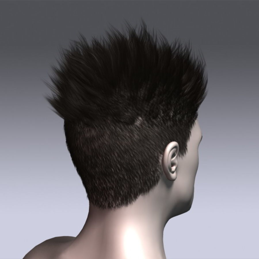 Daniel Hair royalty-free 3d model - Preview no. 7