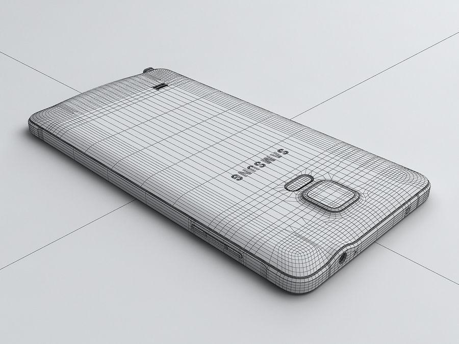Samsung Galaxy Note 4 royalty-free 3d model - Preview no. 24