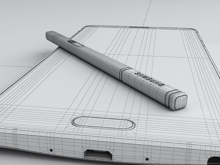 Samsung Galaxy Note 4 royalty-free 3d model - Preview no. 30