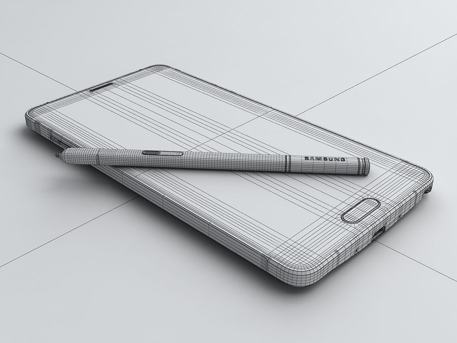 Samsung Galaxy Note 4 royalty-free 3d model - Preview no. 29