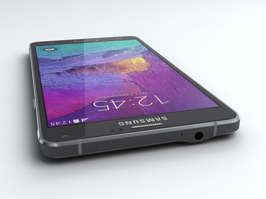 Samsung Galaxy Note 4 royalty-free 3d model - Preview no. 6