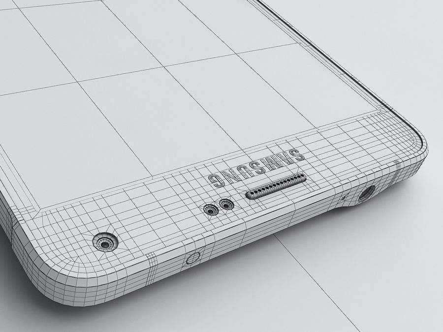Samsung Galaxy Note 4 royalty-free 3d model - Preview no. 27