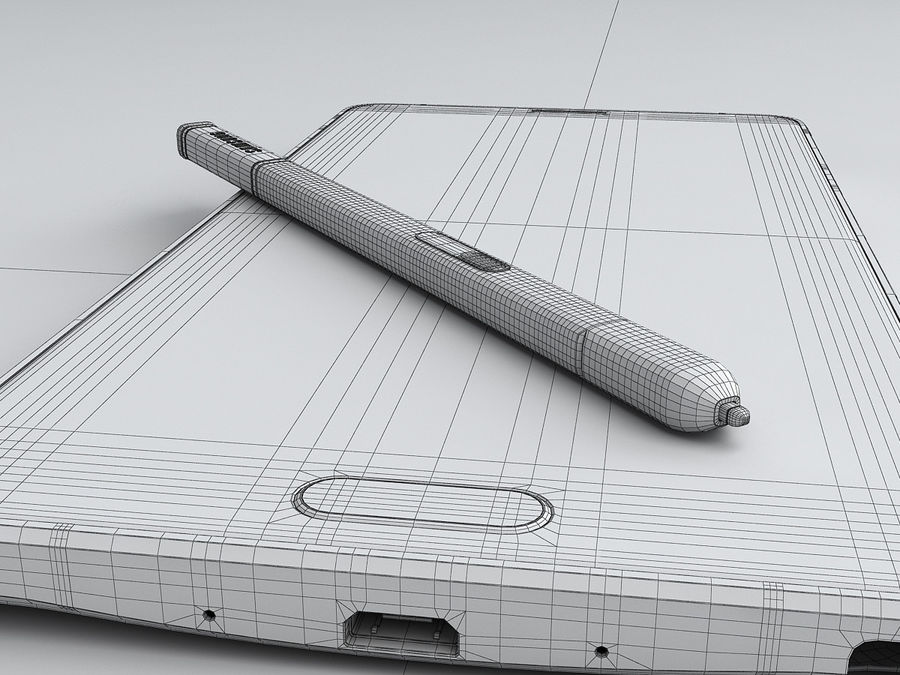 Samsung Galaxy Note 4 royalty-free 3d model - Preview no. 31