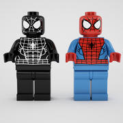 Spiderman and black  spiderman 3d model