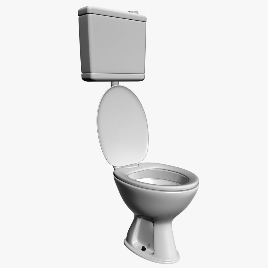 Toilet royalty-free 3d model - Preview no. 1