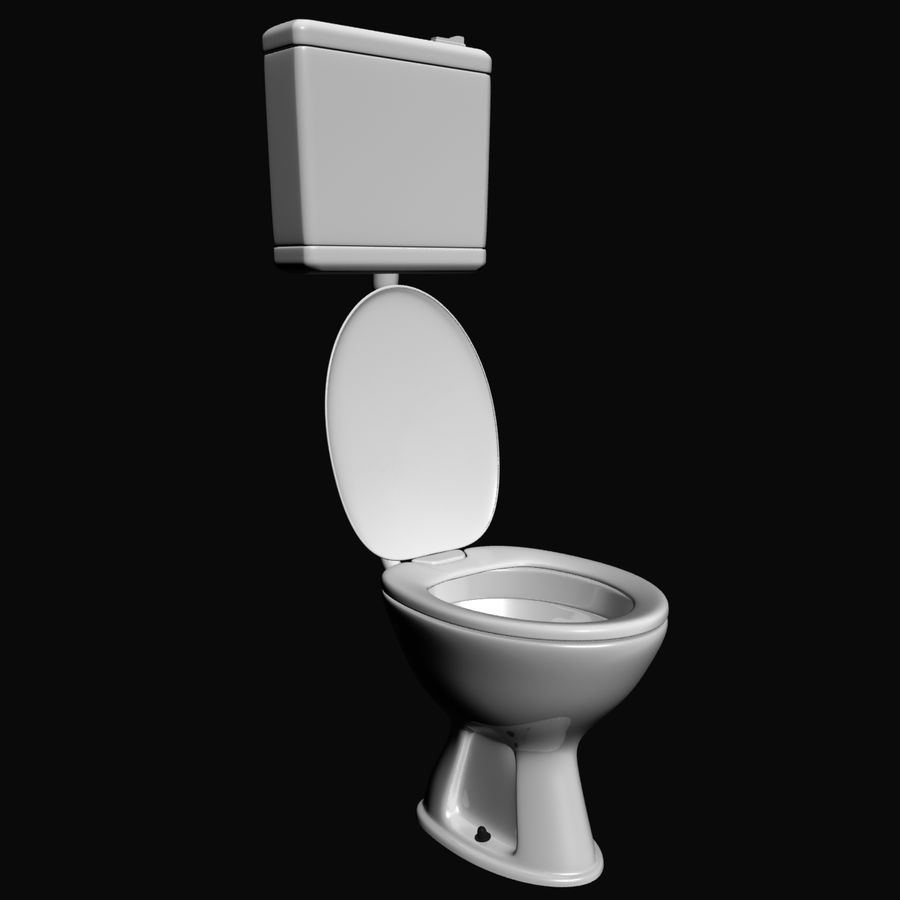 Toilet royalty-free 3d model - Preview no. 2