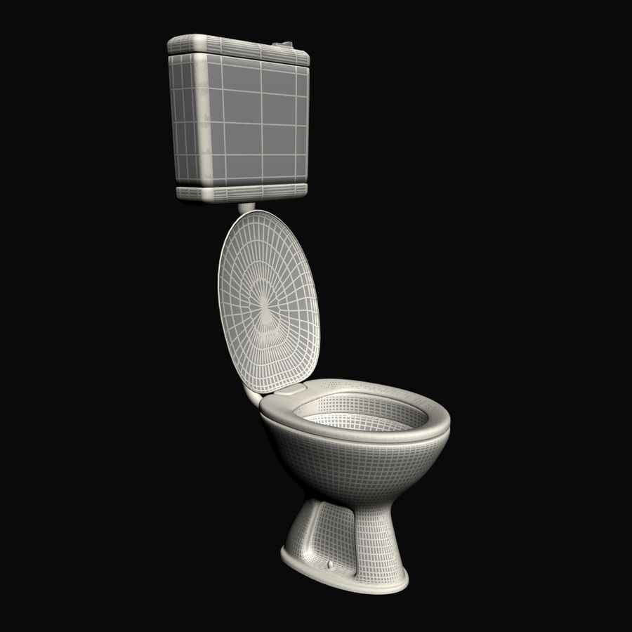 Toilet royalty-free 3d model - Preview no. 5
