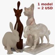 Figurines Collection 3d model