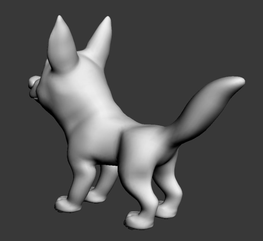Dog Cartoon royalty-free 3d model - Preview no. 16