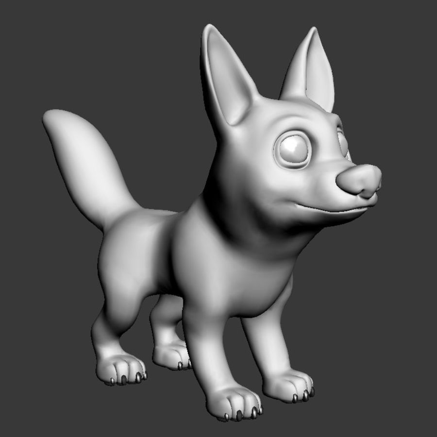 Dog Cartoon royalty-free 3d model - Preview no. 13