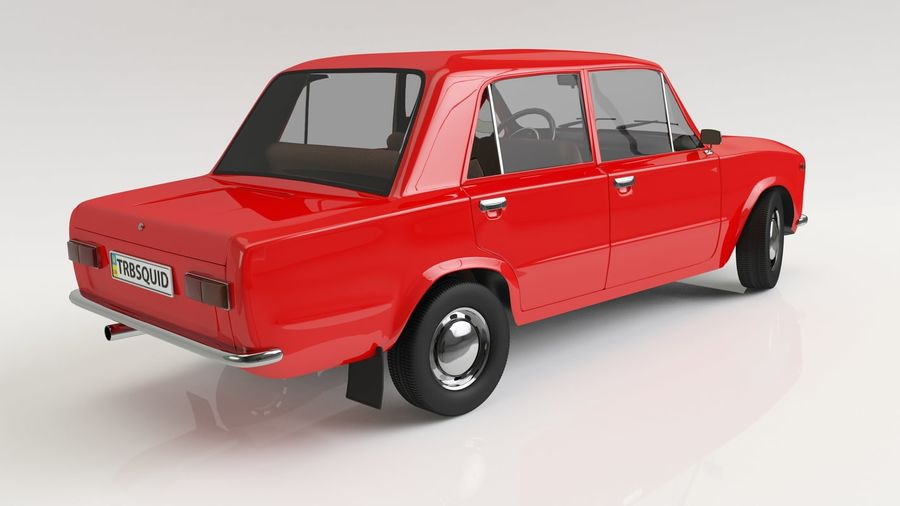 VAZ 2101 Red royalty-free 3d model - Preview no. 2