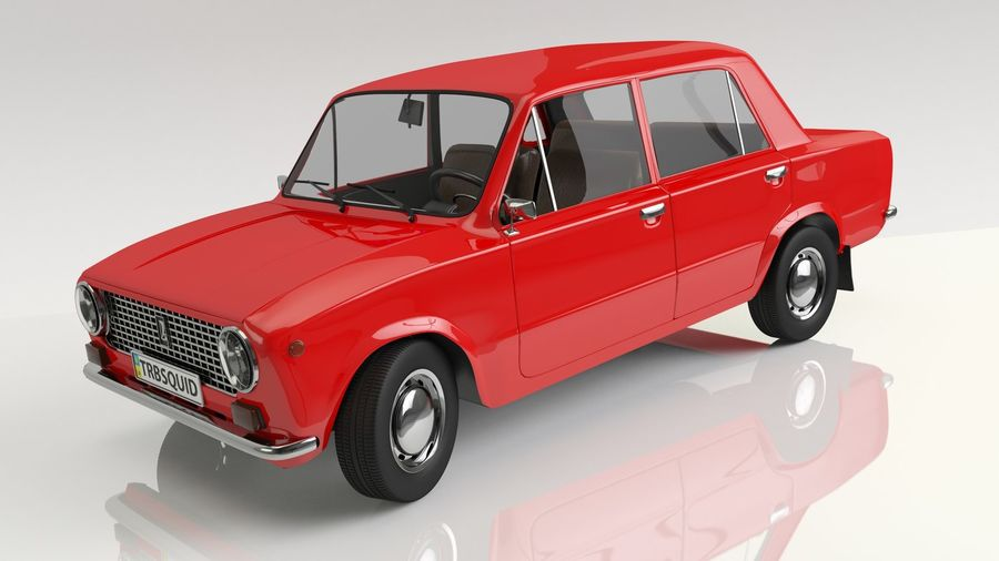 VAZ 2101 Red royalty-free 3d model - Preview no. 1