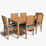 Patio Table and Chairs 3d model