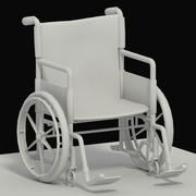 Hospital Wheelchair 3d model