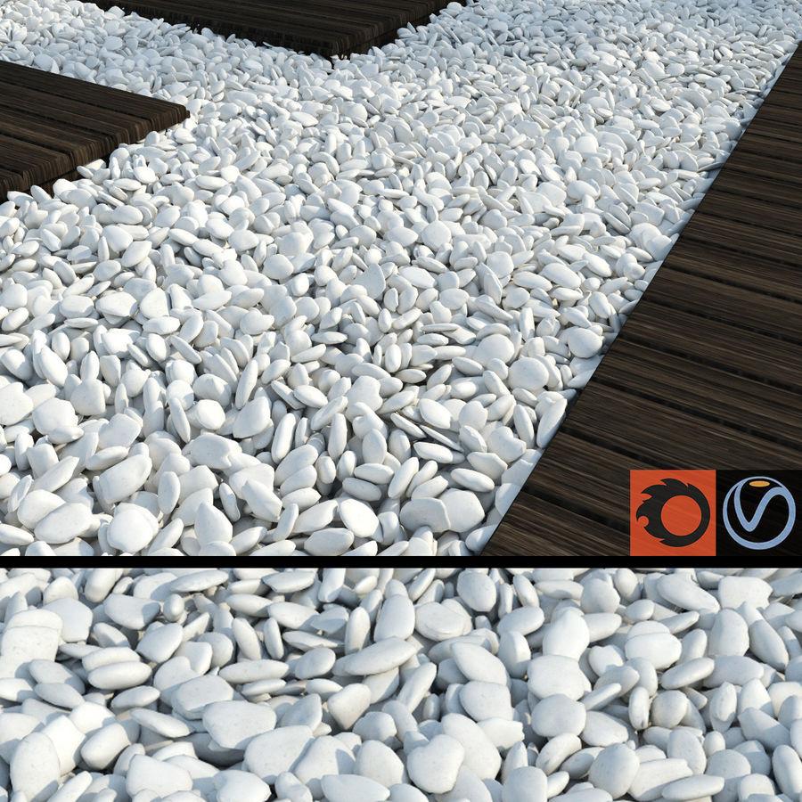White Pebbles royalty-free 3d model - Preview no. 1