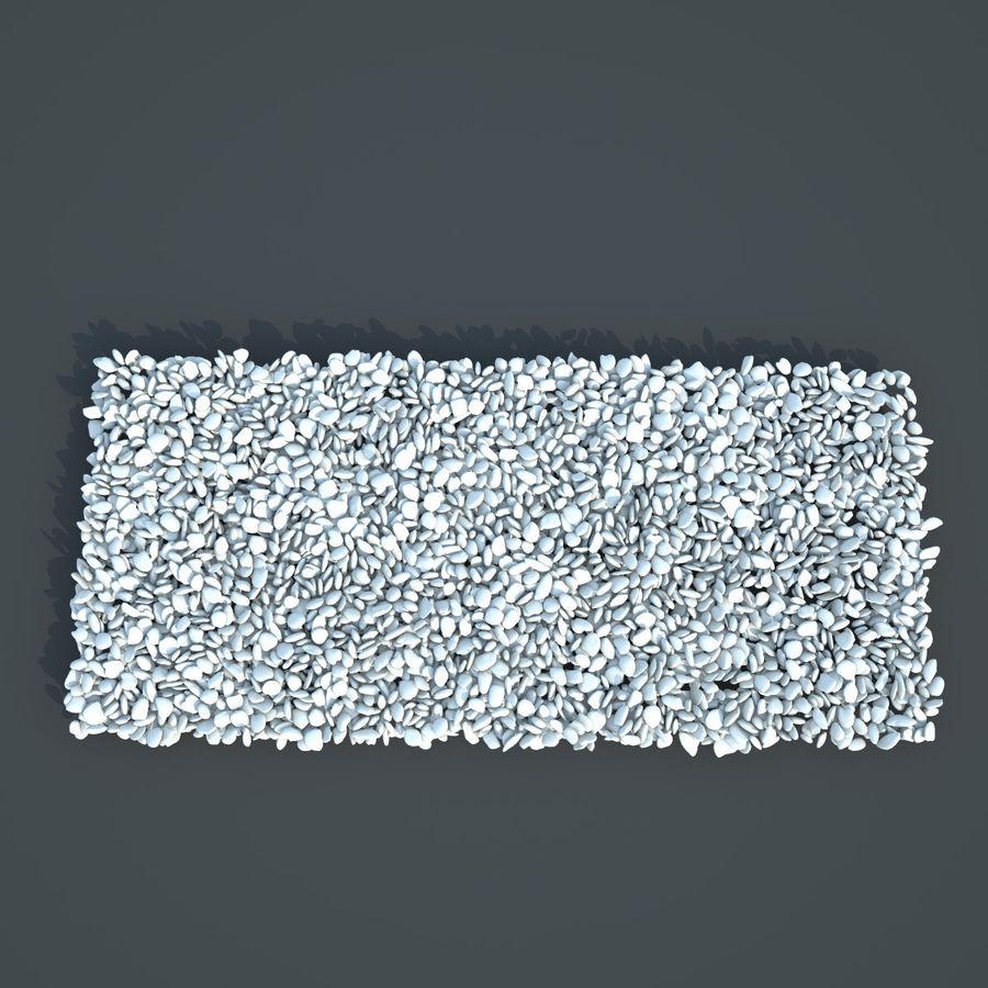 White Pebbles royalty-free 3d model - Preview no. 5