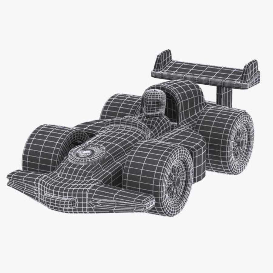 Cartoon Racing Car 2 royalty-free 3d model - Preview no. 11