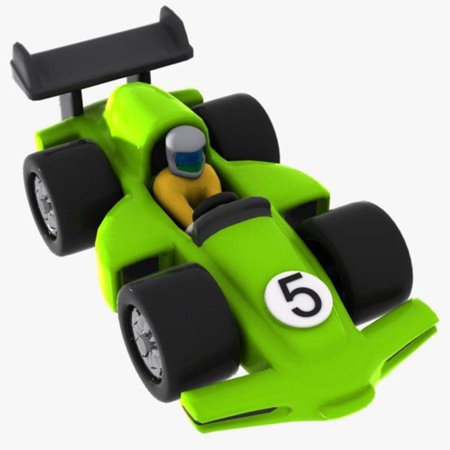 Cartoon Racing Car 2 royalty-free 3d model - Preview no. 1