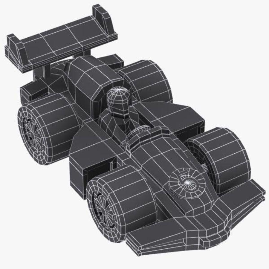 Cartoon Racing Car 2 royalty-free 3d model - Preview no. 14