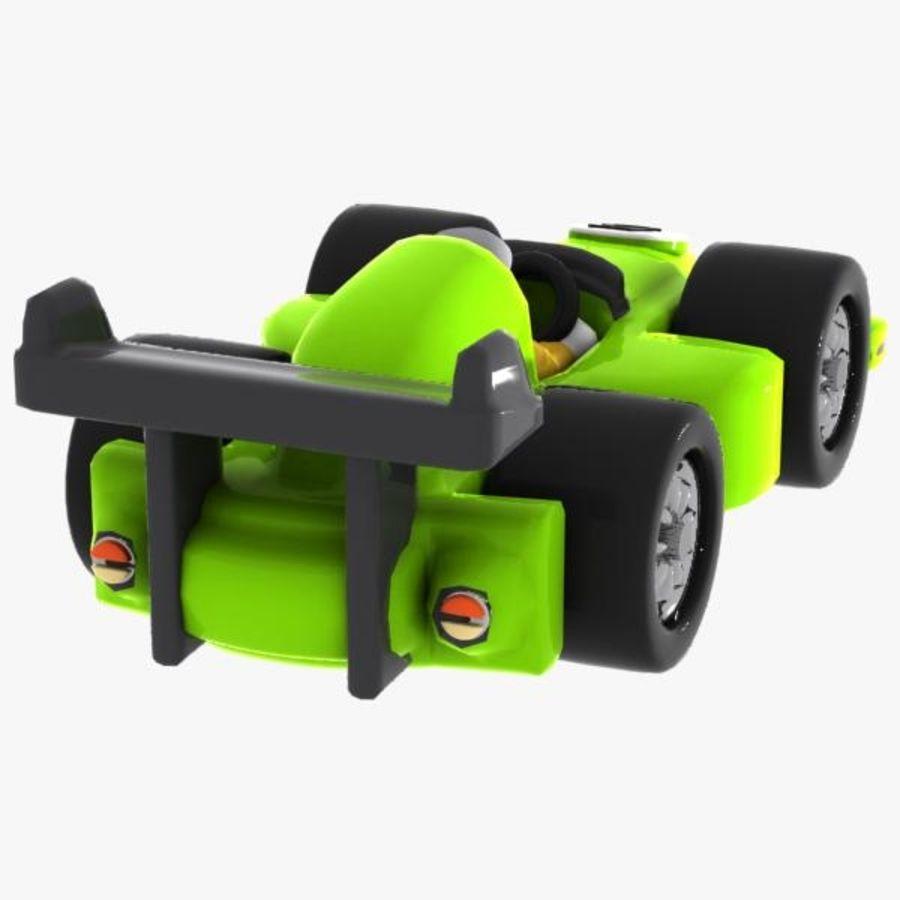 Cartoon Racing Car 2 royalty-free 3d model - Preview no. 7