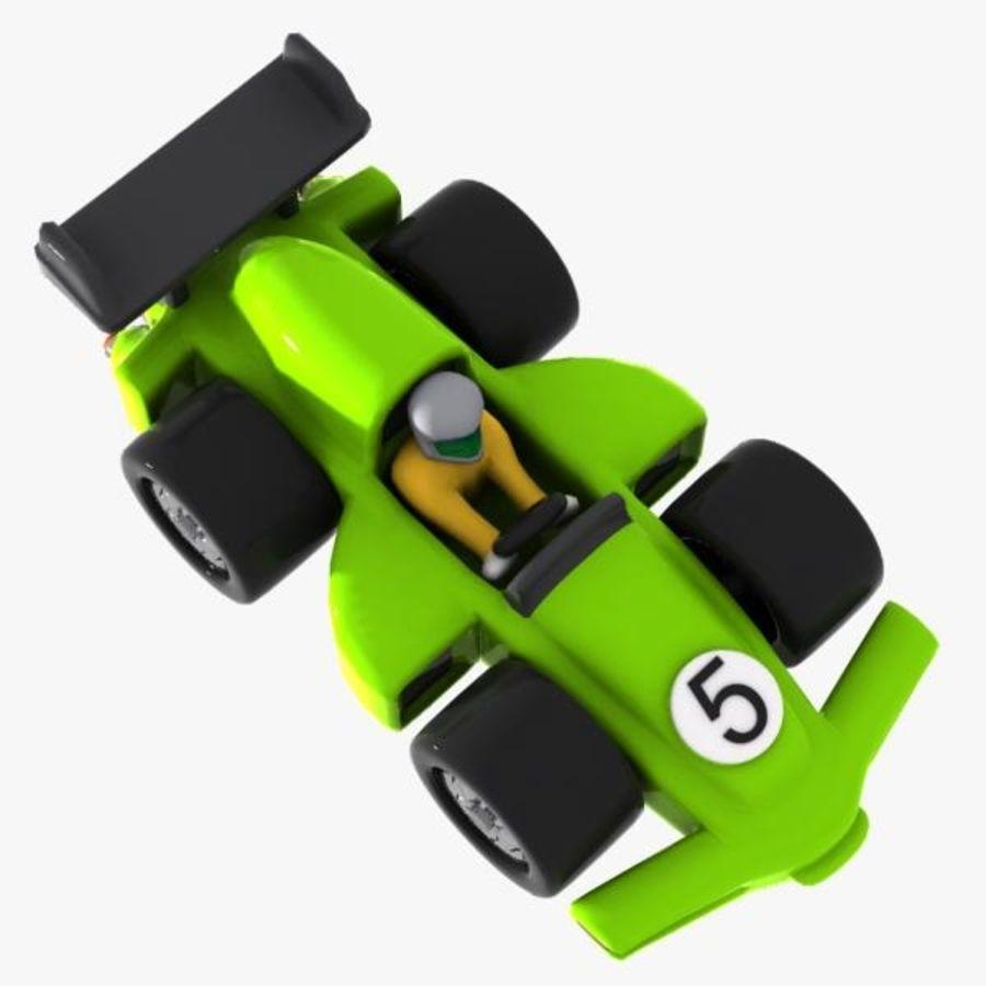 Cartoon Racing Car 2 royalty-free 3d model - Preview no. 4