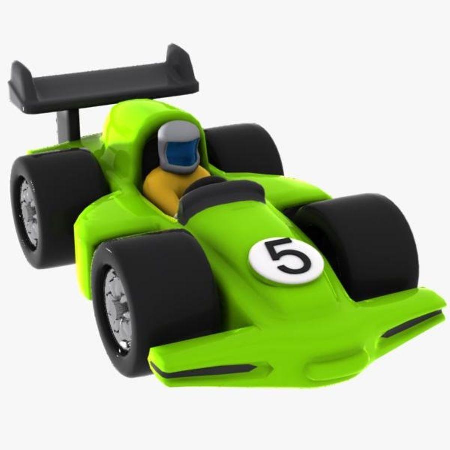 Cartoon Racing Car 2 royalty-free 3d model - Preview no. 3