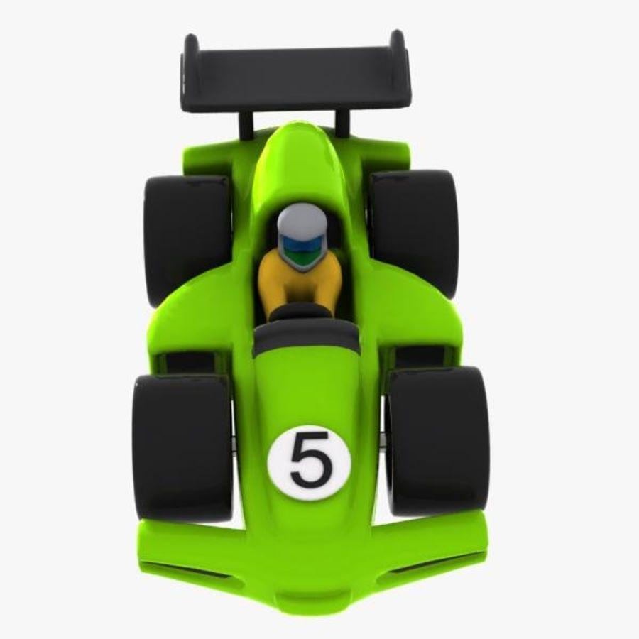 Cartoon Racing Car 2 royalty-free 3d model - Preview no. 5