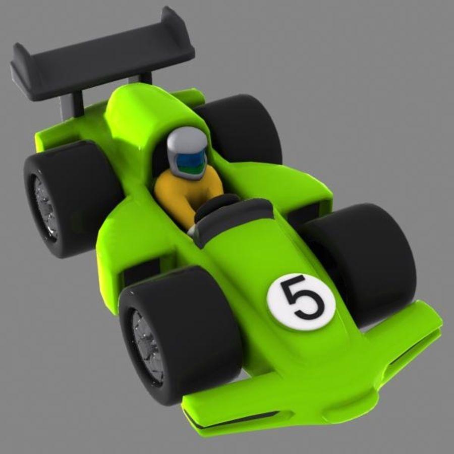 Cartoon Racing Car 2 royalty-free 3d model - Preview no. 2