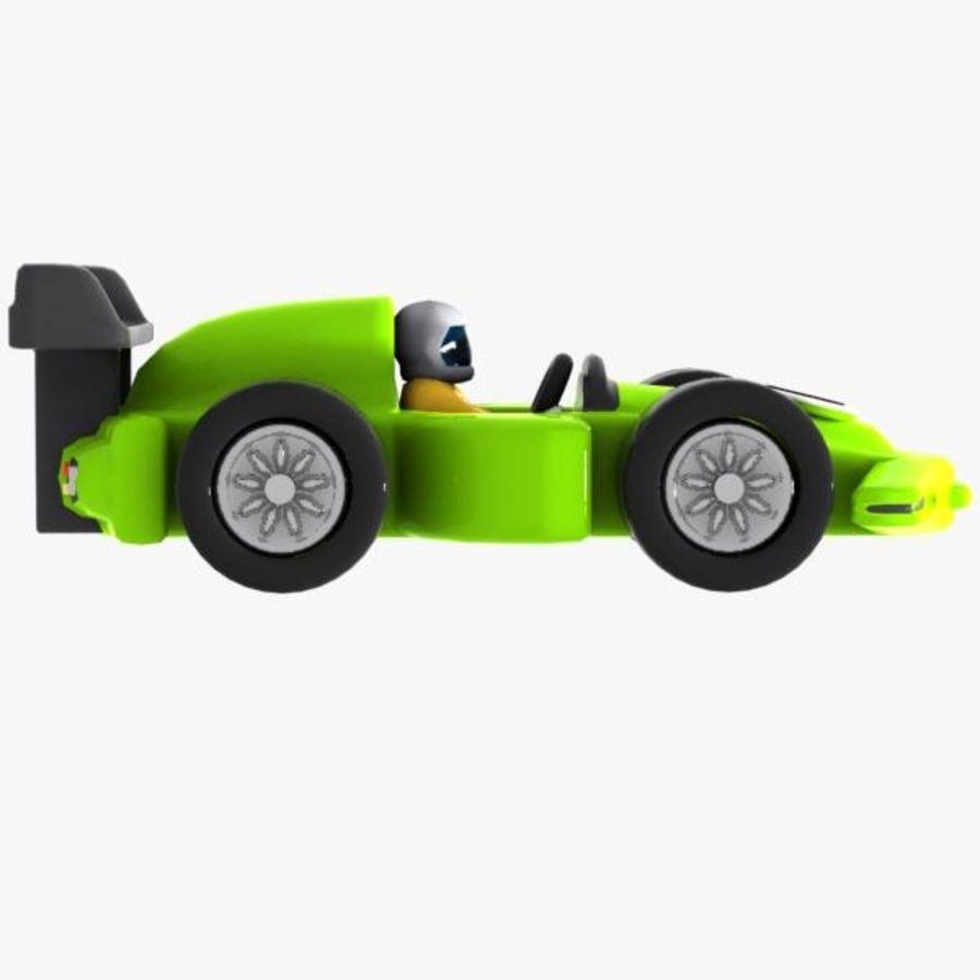 Cartoon Racing Car 2 royalty-free 3d model - Preview no. 8