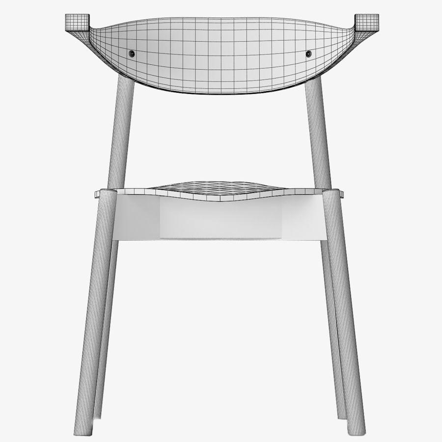 Ikea BOJNE chair royalty-free 3d model - Preview no. 4