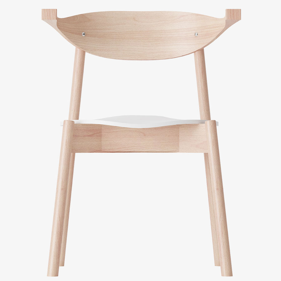 Ikea BOJNE chair royalty-free 3d model - Preview no. 2