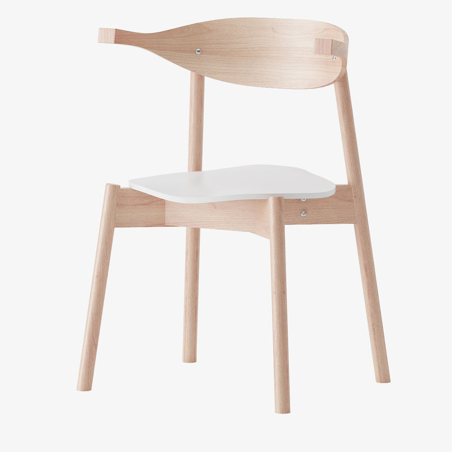 Ikea BOJNE chair royalty-free 3d model - Preview no. 1