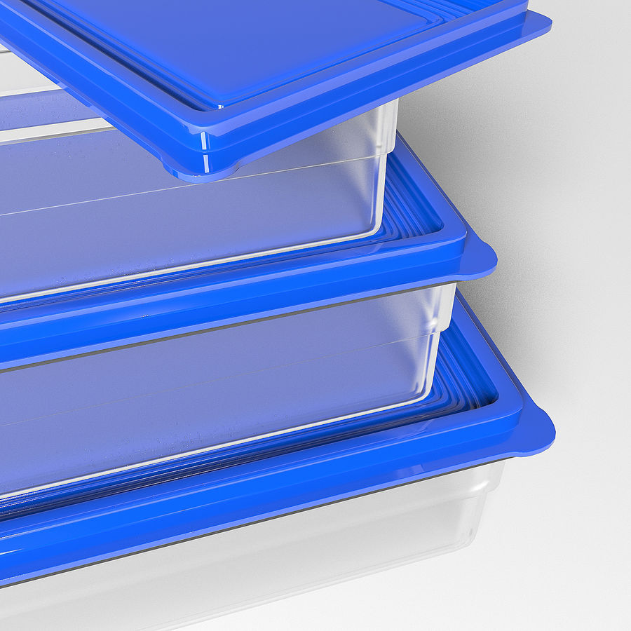 Container voor voedsel royalty-free 3d model - Preview no. 4