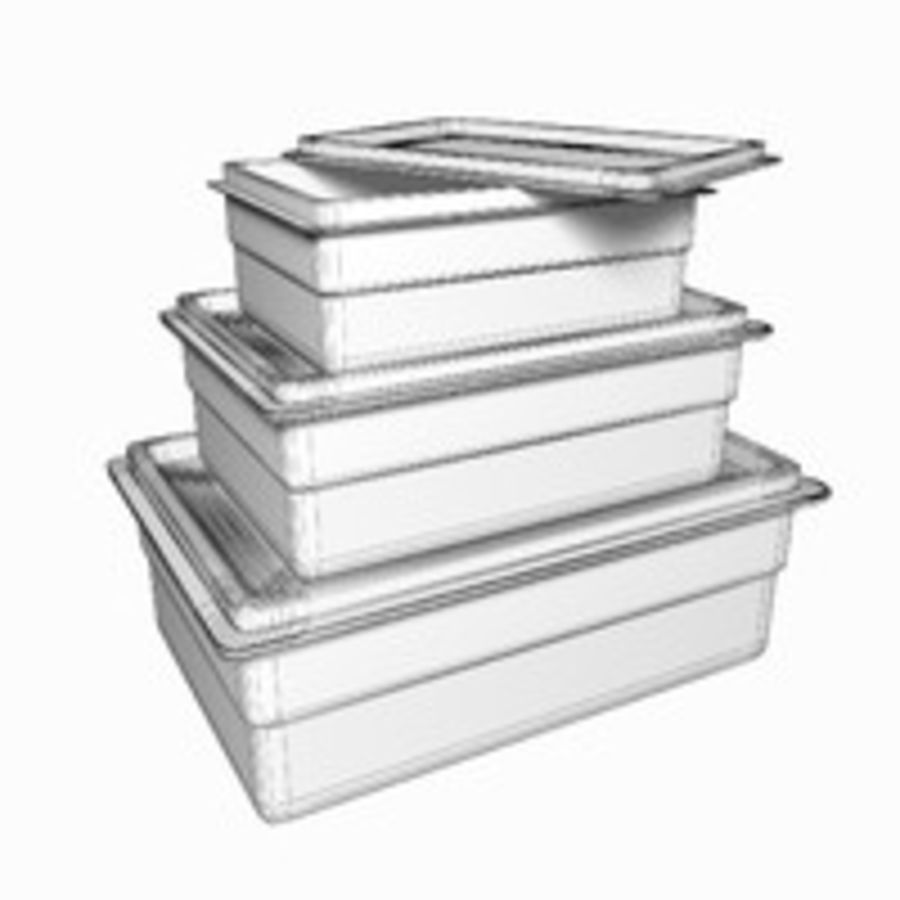 Container voor voedsel royalty-free 3d model - Preview no. 6