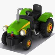 Cartoon Tractor 2 3d model