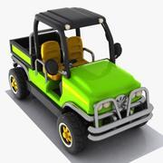 漫画ピックアップトラック4 3d model