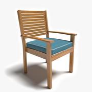 Uteplatsstol med armar 3d model