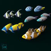 fish  low poly (max, fbx) 3d model