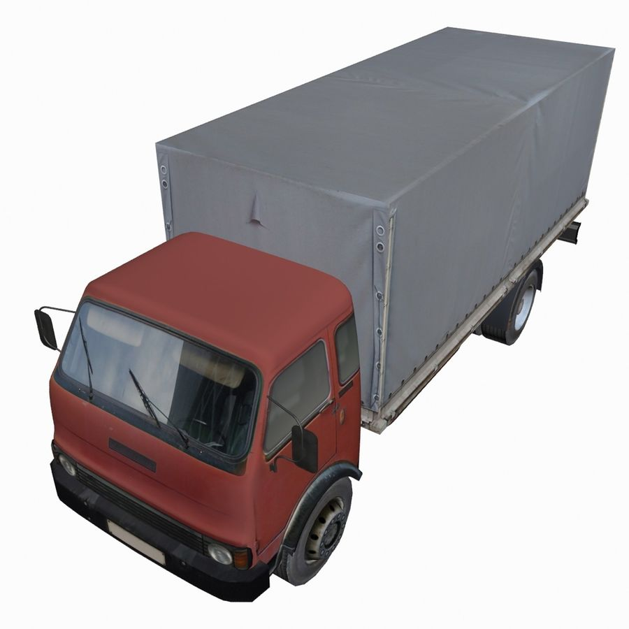 Truck Red royalty-free 3d model - Preview no. 5