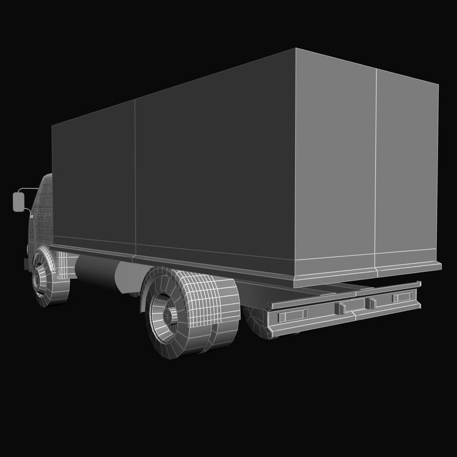 Truck Red royalty-free 3d model - Preview no. 7