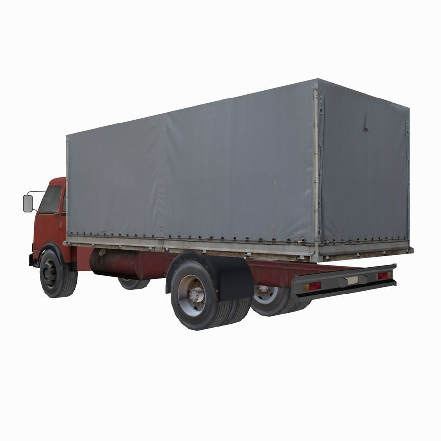 Truck Red royalty-free 3d model - Preview no. 2